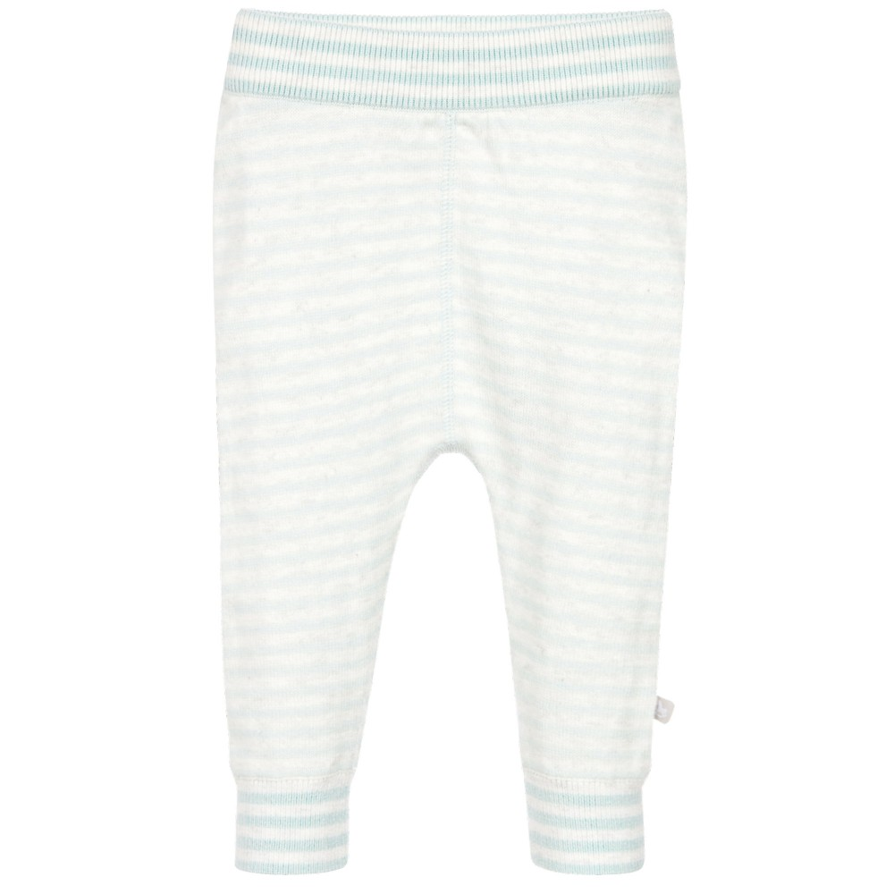 The Little Tailor - Blue Striped Baby Leggings | Childrensalon