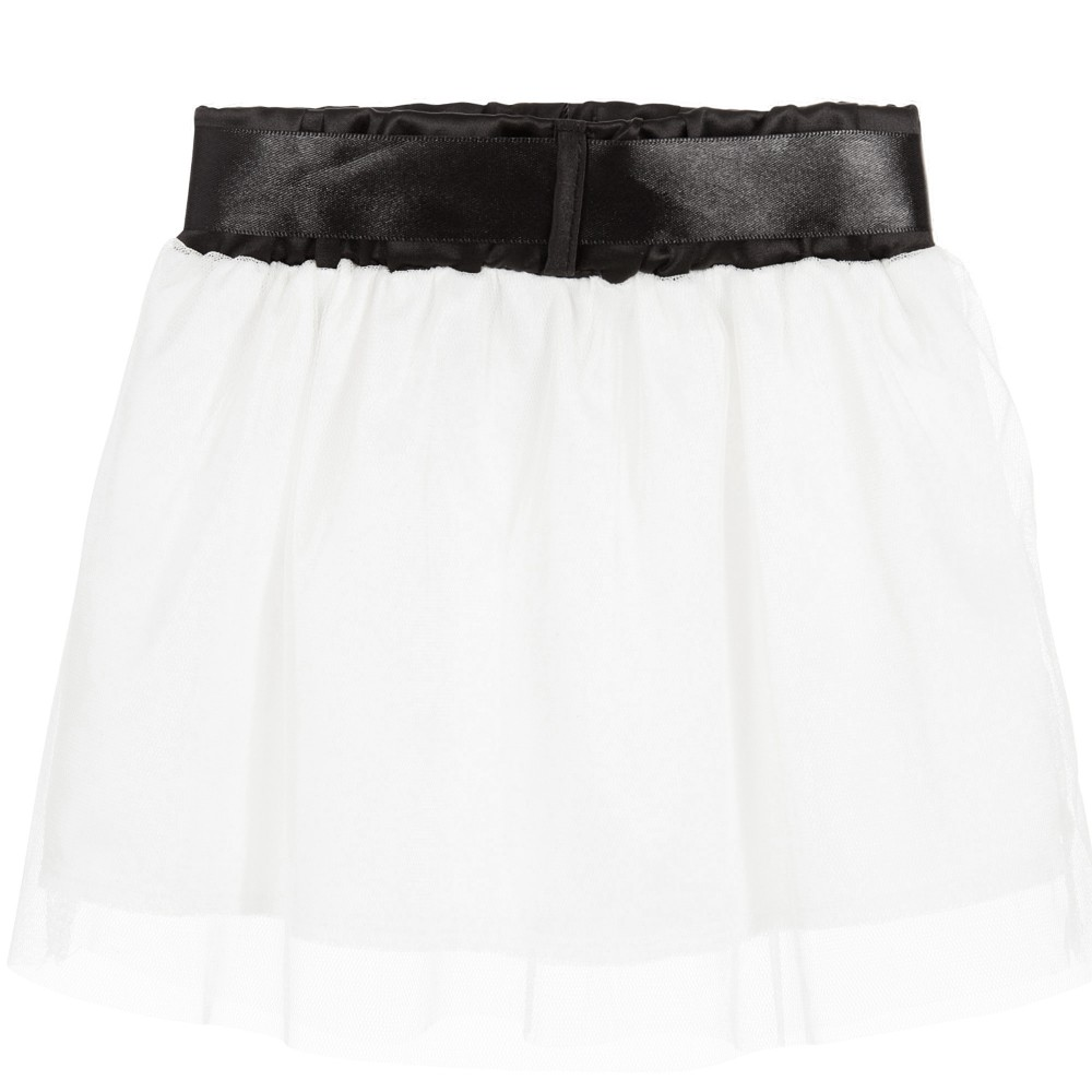 The Tiny Universe Baby Girls White Tulle Skirt