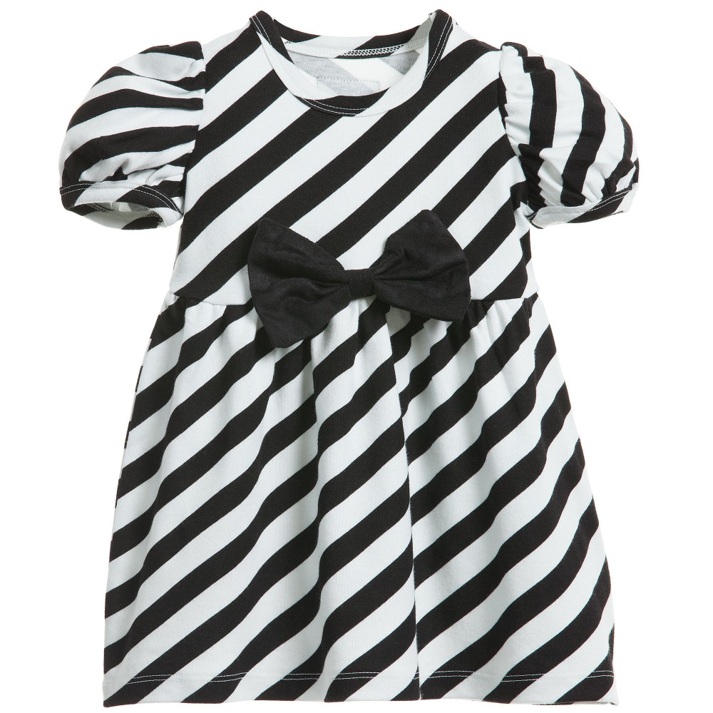 The Tiny Universe - Black & White 'The Tiny Stripes' Jersey Dress | Childrensalon