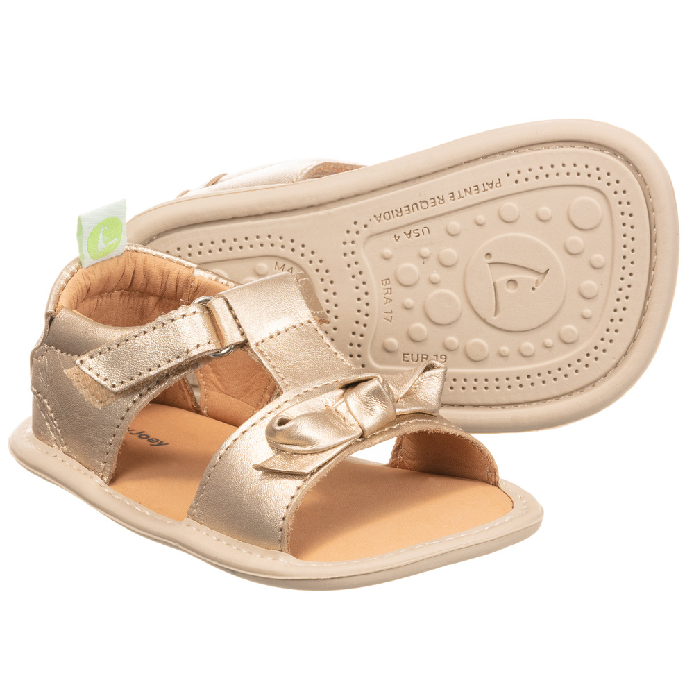 Tip Toey Joey - Baby Gold Leather
