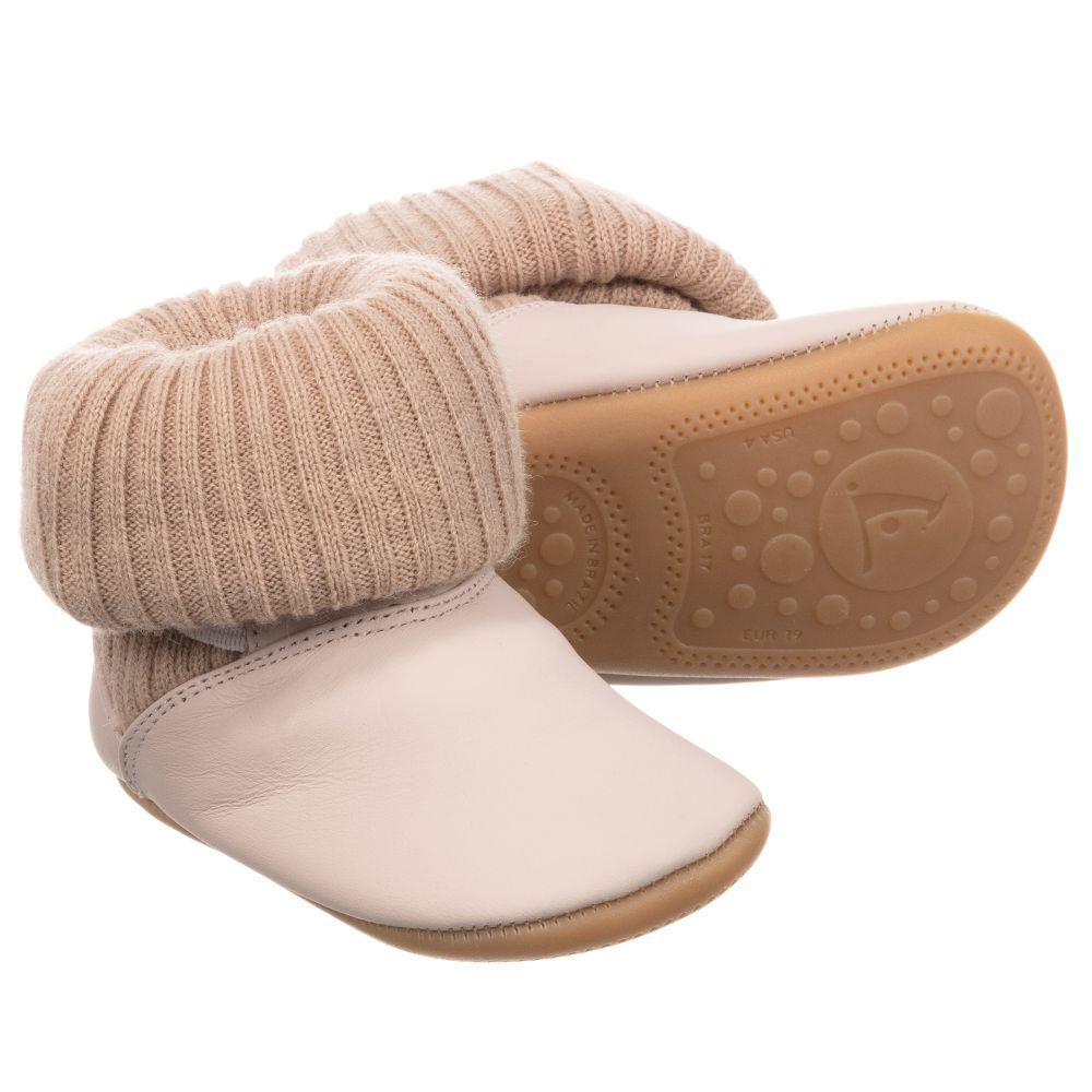 Tip Toey Joey - Baby Pink Leather Sock