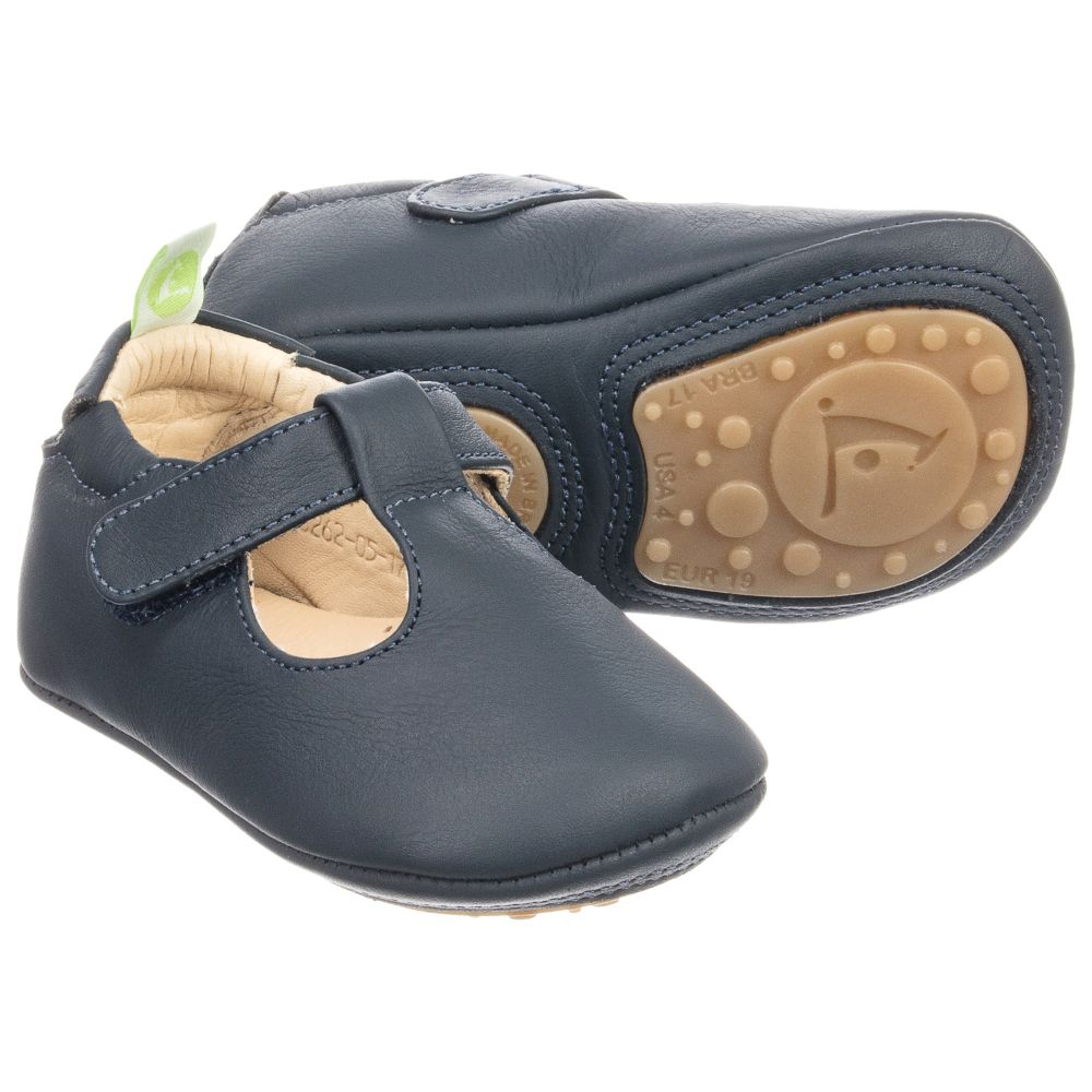 Tip Toey Joey Blue Leather Baby Shoes