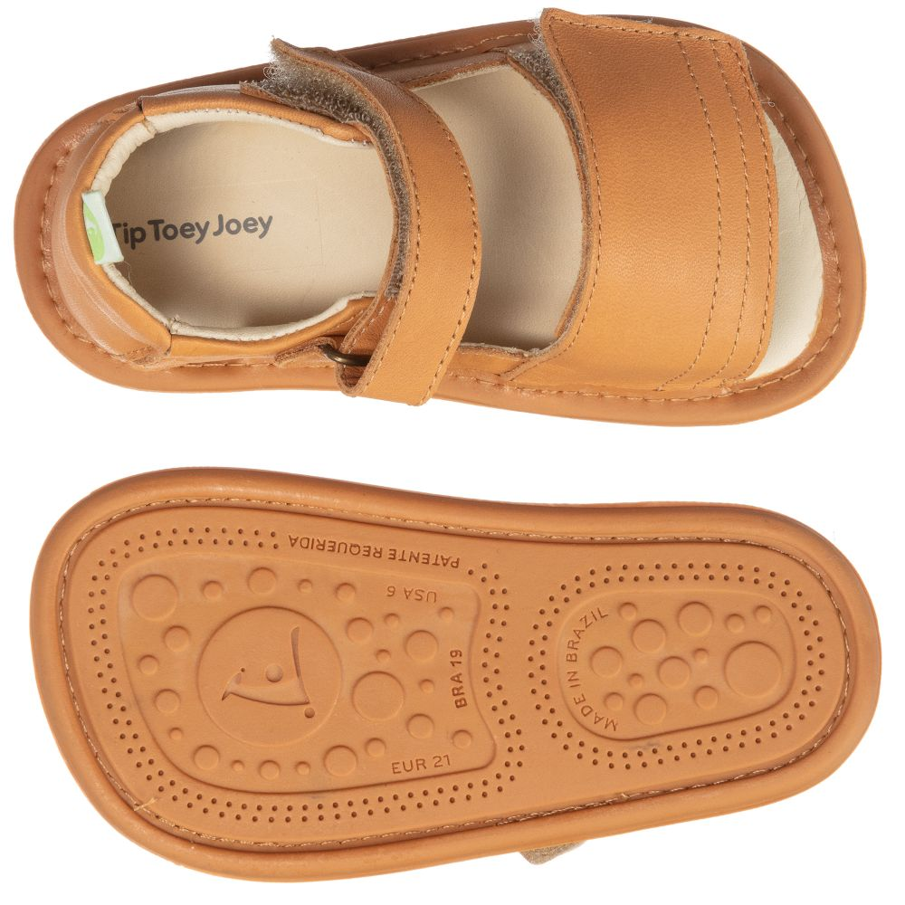 Tip Toey Joey - Brown Leather Baby