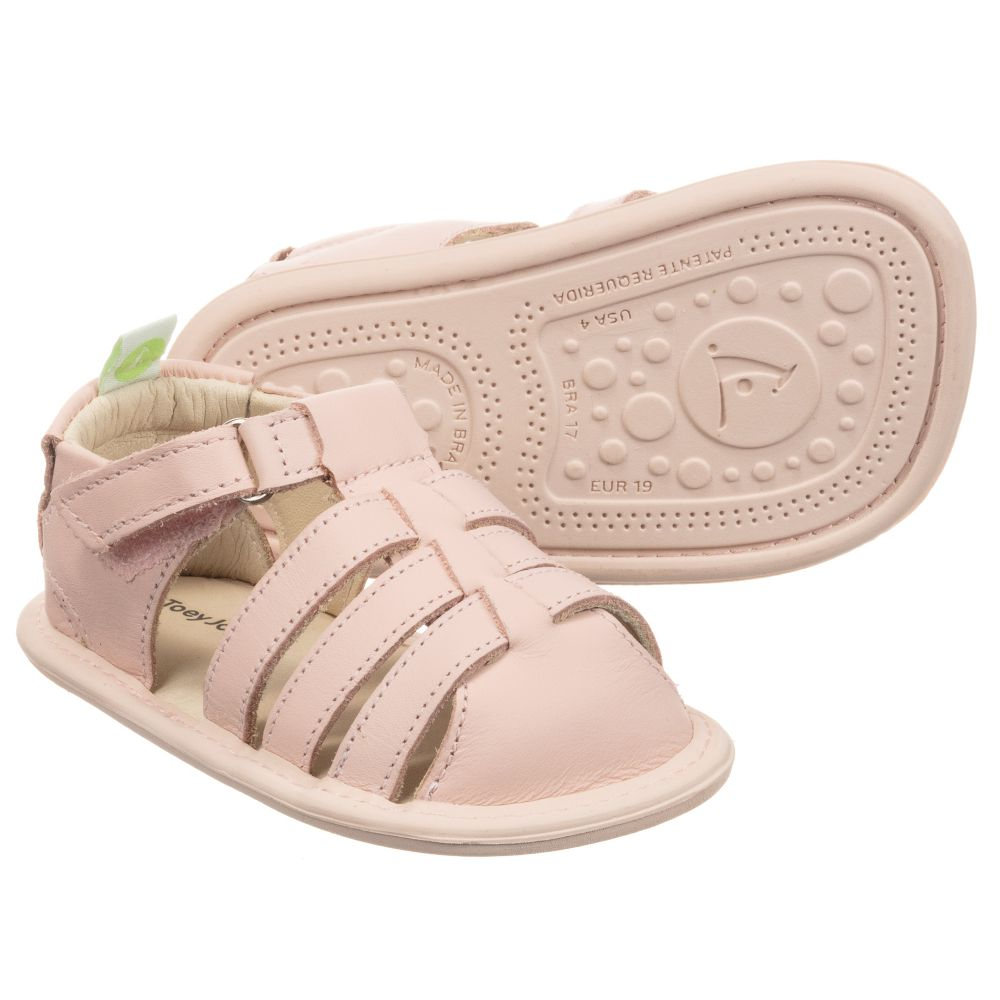 Tip Toey Joey - Pink Leather Baby
