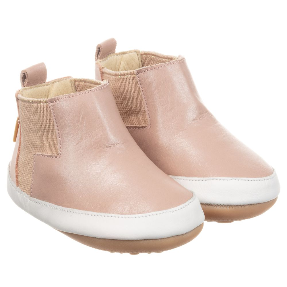 Tip Toey Joey - Pink Leather First