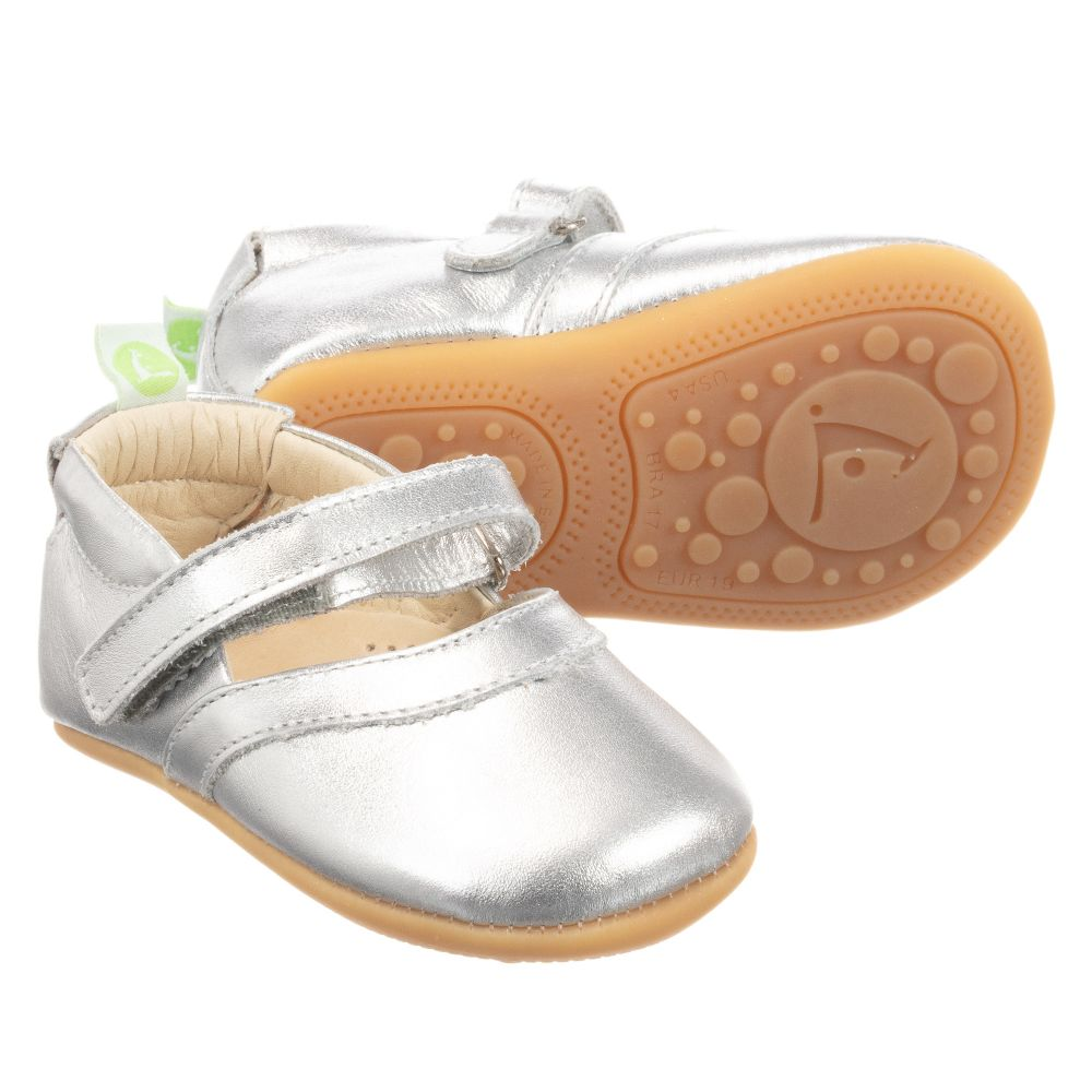 Tip Toey Joey - Silver Leather Baby