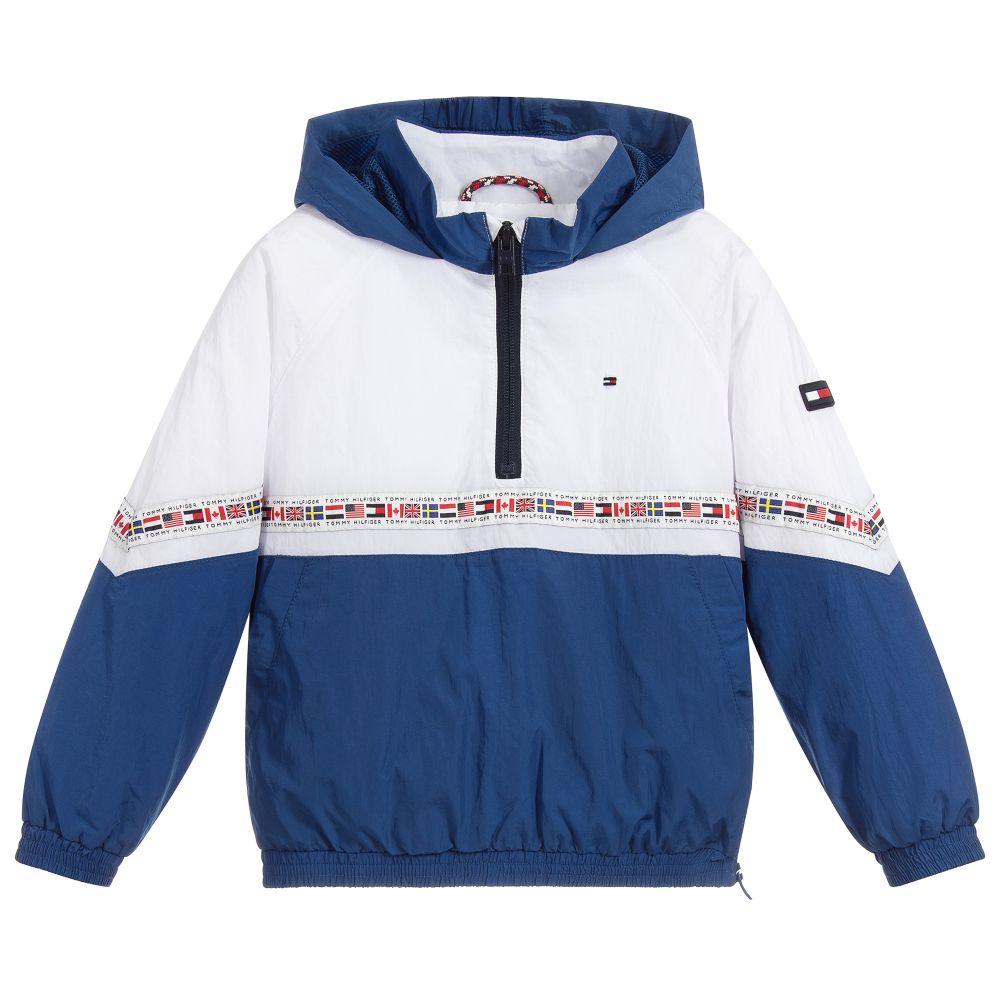 3933baced3a1c4 Tommy Hilfiger - Boys Lightweight Hooded Jacket | Childrensalon