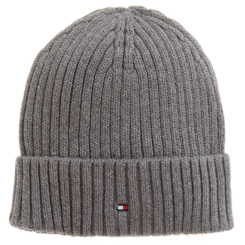 50b778f830e Tommy Hilfiger - Grey Cotton Beanie Hat