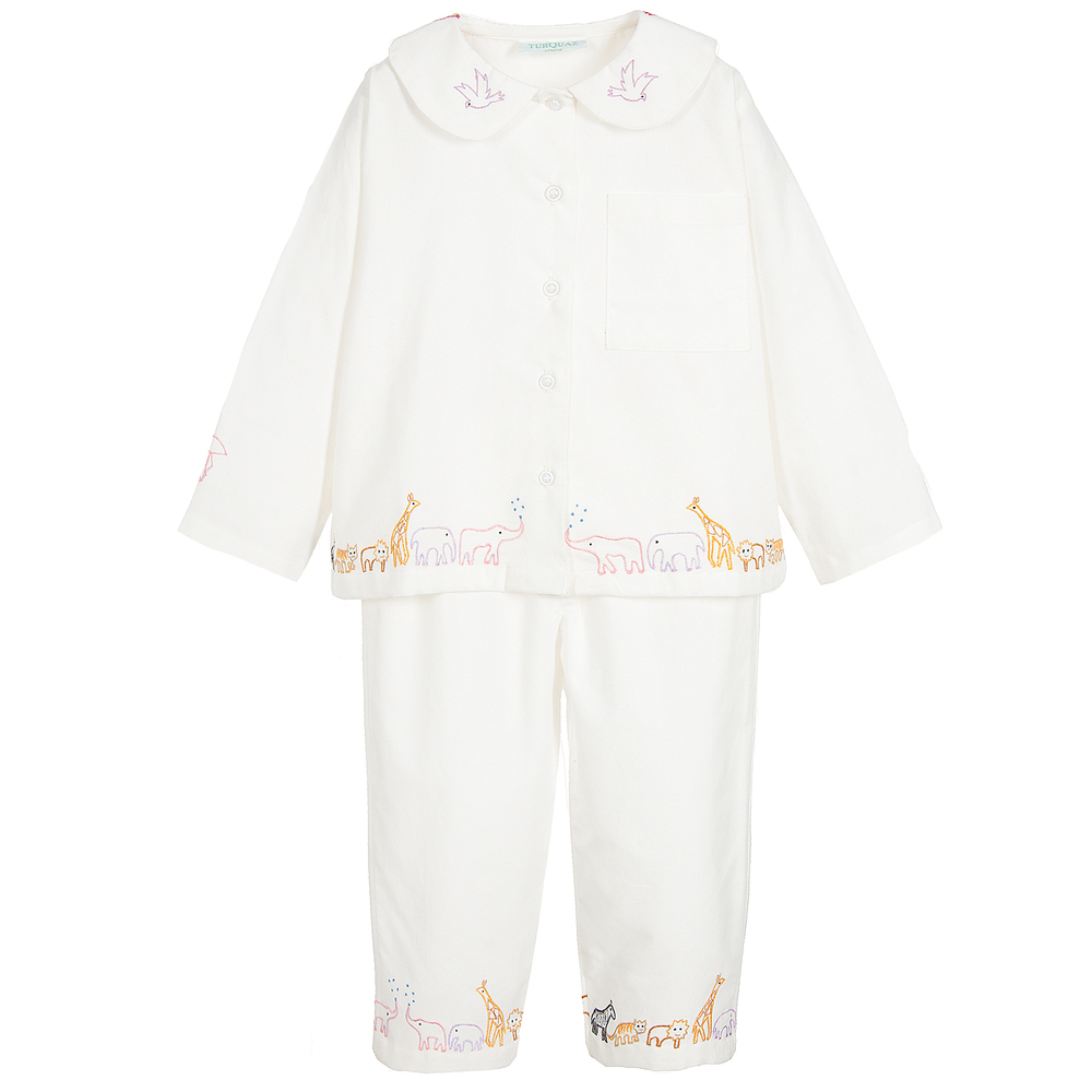 be07751706 Turquaz - Girls White Cotton Pyjamas