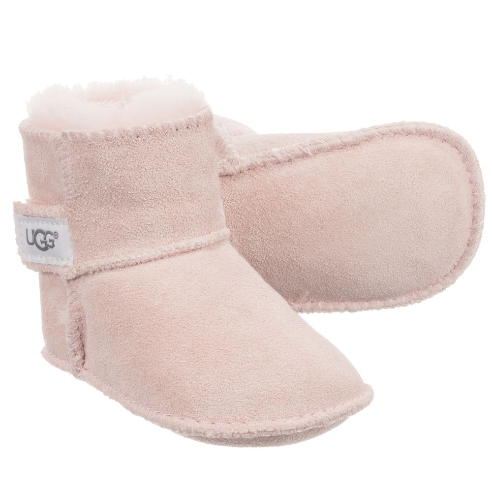0bf47d42d4c Pink Suede Baby Boots