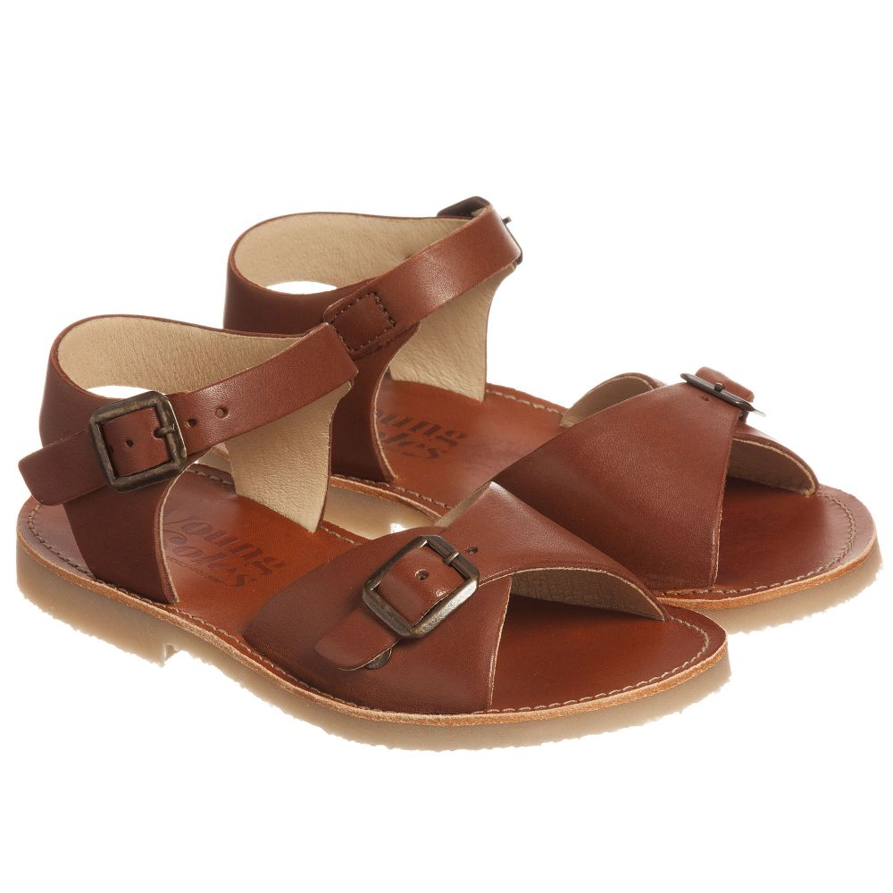 6e7248dc72f Young Soles - Brown  Sonny  Leather Sandals