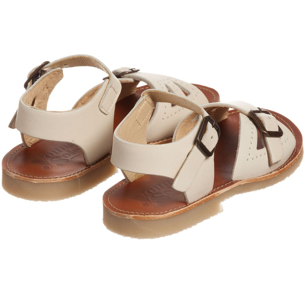 2dd6a416db2 Young Soles - Ivory  Pearl  Leather Sandals