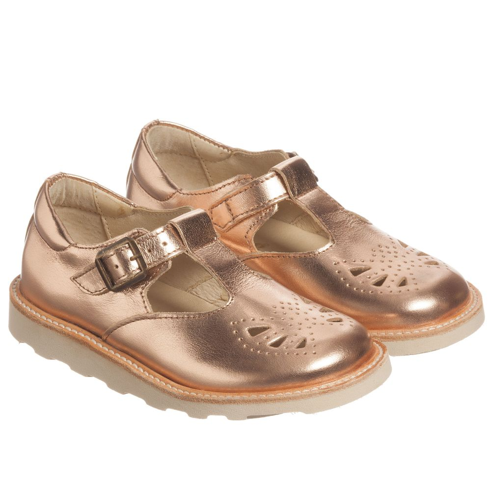 dfa11fbe6a8e Young Soles - Rose Gold Leather Shoes