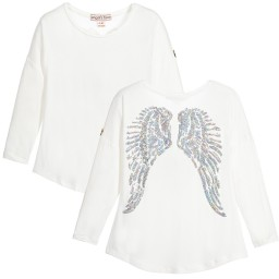 Angel's Face - Girls Ivory Angel Wing Top | Childrensalon