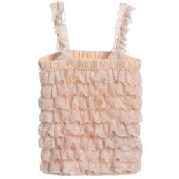 Angel's Face - Ivory Lace Frilled Top | Childrensalon