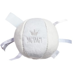 Bam Bam - Ivory & Blue Soft Ball Toy (12cm) | Childrensalon