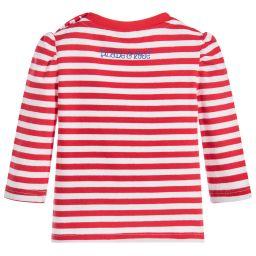 Blade & Rose - Girls Red Striped T-Shirt   Childrensalon