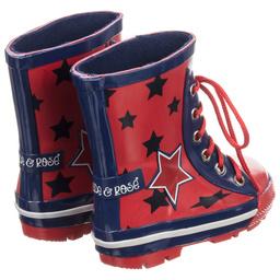 Blade & Rose - Red & Blue Rain Boots | Childrensalon