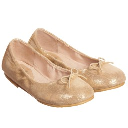 Bloch - Girls Gold Leather 'Sirenetta' Shoes | Childrensalon