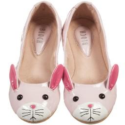 Bloch - Girls Pink 'Lapin' Leather Ballerina Pumps | Childrensalon