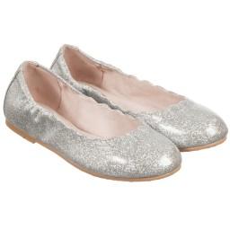 Bloch - Girls Silver Glitter 'Bijou' Ballerina Pumps | Childrensalon