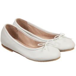 Bloch - Girls White Leather 'Arabella' Ballerina Pumps | Childrensalon