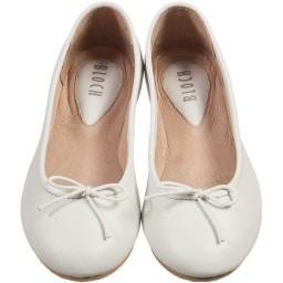 Bloch - Girls White Leather 'Arabella' Ballerina Pumps | Childrensalon
