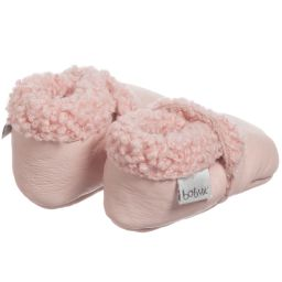 Bobux Soft Sole - Girls Pink Leather & Fur Pre-Walker Boots | Childrensalon