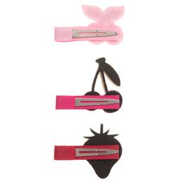 Bowtique London - Girls Set Of 3 Hairclips (3cm)   Childrensalon