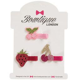 Bowtique London - Girls Set Of 3 Hairclips (3cm) | Childrensalon