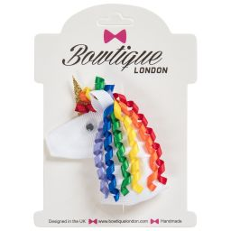 Bowtique London - Girls Unicorn Hair Clip (7cm) | Childrensalon