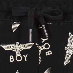 BOY London - Black & Gold Repeat Joggers | Childrensalon