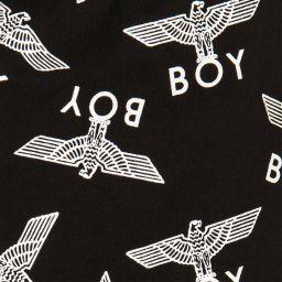 BOY London - Black Logo Printed Leggings | Childrensalon