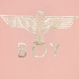 BOY London - Pink Cotton Logo T-Shirt | Childrensalon