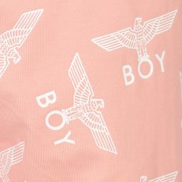 BOY London - Pink Logo Printed Leggings | Childrensalon