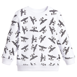 BOY London - White & Black Repeat Sweatshirt | Childrensalon