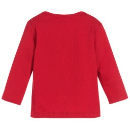 Burberry - Baby Boys Red 'Callum' Top with Chest Pocket | Childrensalon