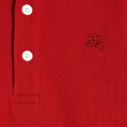 Burberry - Boys Red 'William' Polo Shirt | Childrensalon