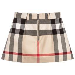 Burberry - Girls Stone Check Skirt | Childrensalon