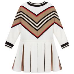 Burberry Knitted Wool Icon Stripe Dress Childrensalon