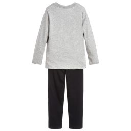 Calvin Klein - Grey & Black Cotton Pyjamas | Childrensalon