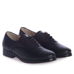 Children's Classics - Boys Black Leather Lace-Up Oxford Dress Shoes | Childrensalon