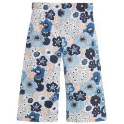 Chloé - Girls Blue Floral Culottes   Childrensalon