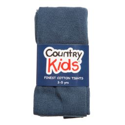 Country Kids - Dark Blue Cotton Tights | Childrensalon