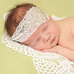 Cute Cute - Crystal & Ivory Lace Headband | Childrensalon
