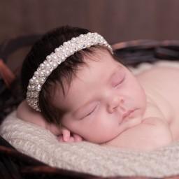 Cute Cute - Diamanté & Pearl Bead Headband   Childrensalon
