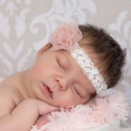 Cute Cute - Girls Dusky Pink Glitter Ivory Lace Headband  | Childrensalon