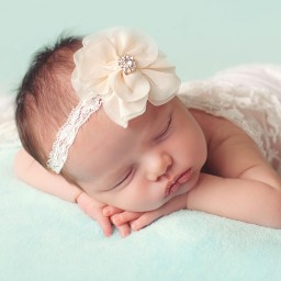 Cute Cute - Ivory Chiffon Flower Headband | Childrensalon