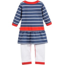 Dijjie - Baby Girls Nautical Print Cotton Romper Dress | Childrensalon