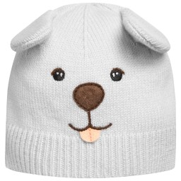 Dolce & Gabbana - Baby Boys Blue 'Mimmo the Dog' Cashmere Hat | Childrensalon
